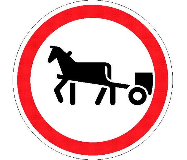 Дорожный знак 3.8